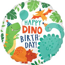 Dinosaurus Happy Birthday Ballon - 46 cm Folie
