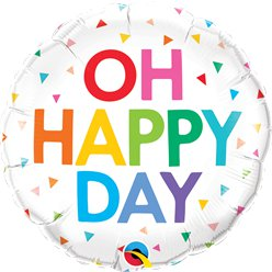 Oh Happy Day Ballon - 46 cm Folie