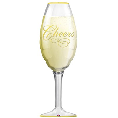 Champagne Glas Supershape Ballon - 97 cm Folie