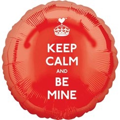 Valentijnsdag Keep Calm & Be Mine Ballon - 46 cm Folie