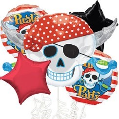 Piraten Ballon Boeket - Assortiment Folie