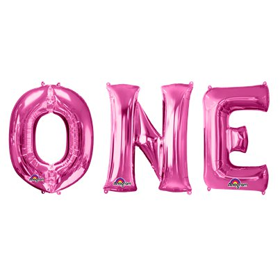 'ONE' Roze Ballon Kit - 86 cm Folie
