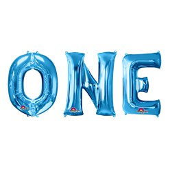 'ONE' Blauwe Ballon Kit - 86 cm Folie
