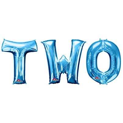 'TWO' Blauwe Ballon Kit - 86 cm Folie