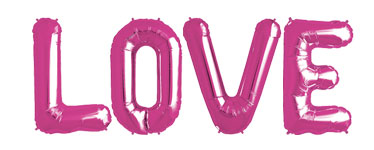 'LOVE' Roze Folie Ballon Kit - 86 cm