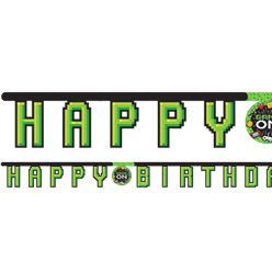 Game On 'Happy Birthday' Banner - 2m Letter Banner
