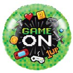 Game On Metallic Ballon - 46 cm Folie