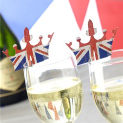 Union Jack Kroon Glas Decoratie