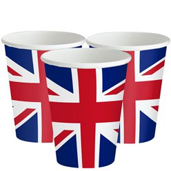 Union Jack Papieren Bekers - 266 ml