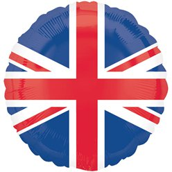 Union Jack Design Ronde Ballon - 46 cm Folie
