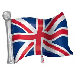 Groot-Brittannië Union Jack Supershape Vlag Ballon - 68.5 cm Folie