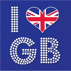 Unie Jack 'I Love GB' Servetten 3-laags