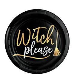 Witch Please Plastic Bord (19 cm)