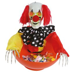 Animerende Clown Trick or Treat Kom