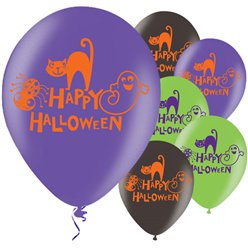 Happy Halloween Ballonnen - 28 cm Latex