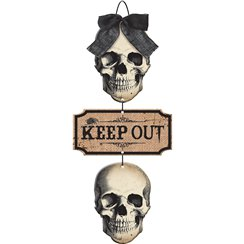 Kerkhof Keep Out Bord 48 cm x 21 cm