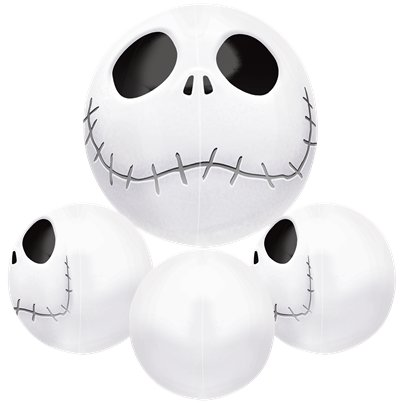 Jack Skellington Orbz Ballon - 41 cm Folie