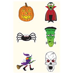 Halloween Temporary Tattoos Sheet