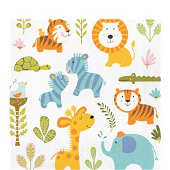 Happy Jungle Lunch Servetten - 33 cm