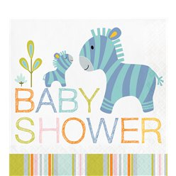 Happy Jungle Baby Shower Lunch Servet - 33cm