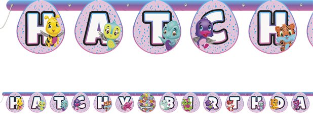 Hatchimals Grote Letter Banner - 2m