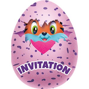 Hatchimals Uitnodigingen