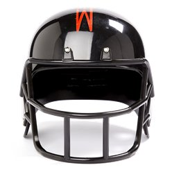 Zwarte Amerikaanse Football Helm