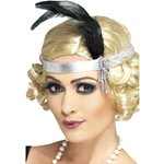 Charleston Zilveren Flapper Haarband