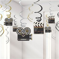 Hollywood Hangende Swirls Decoratie - 60 cm