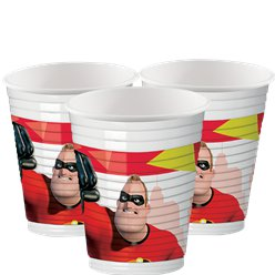 The Incredibles Feest Bekers - 200 ml Plastic Bekers