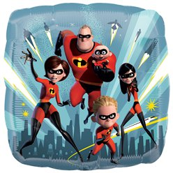 The Incredibles 2 Vierkante Ballon - 46 cm Folie