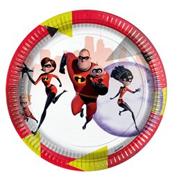 The Incredibles Papieren Borden - 23 cm