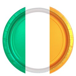 Irish Flag Plates - 23cm Paper Party Plates