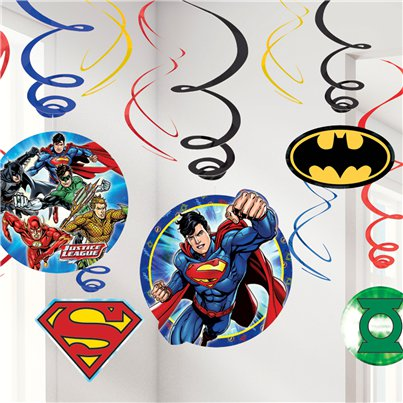 Justice League Hangende Swirls
