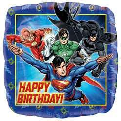 Justice League Happy Birthday Vierkante Ballon - 46 cm Folie