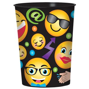 Smiley Plastic Cadeau Uitdeelbeker - 455 ml
