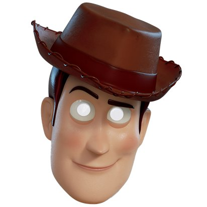 Woody Toy Story 4 Masker - Kindermasker Personage front