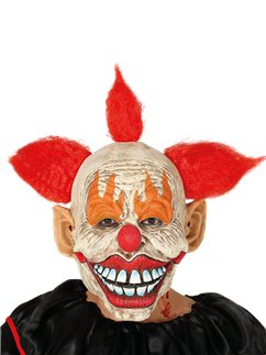 Latex Clown Masker met Haar