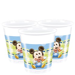 Baby Mickey Plastic Feestbekers - 200 ml
