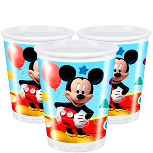 Mickey Mouse Bekers - 200 ml Plastic Feestbekers