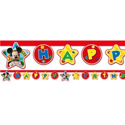 Mickey Mouse Happy Birthday Letter Banner