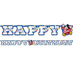 Mickey Mouse Letter Banner