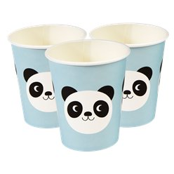 Miko de Panda Papieren Bekers - 250 ml