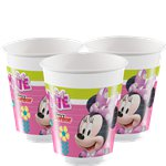 Minnie Mouse Bekers - 200 ml Plastic Feestbekers
