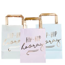 "Pick & Mix Pastel ""Hip Hip Hooray"" Traktatietassen - 26 cm"