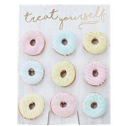 "Pick & Mix Pastel ""Treat Yourself"" Donut Bord"