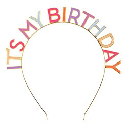 It's My Birthday Emaille Roze Haarband