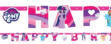 My Little Pony 'Happy Birthday' Letter Banner - 1.3m