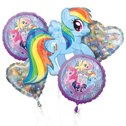 My Little Pony Holografisch Ballonboeket - Assortiment Folie