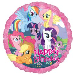 My Little Pony Happy Birthday Ballon - 46 cm Folie